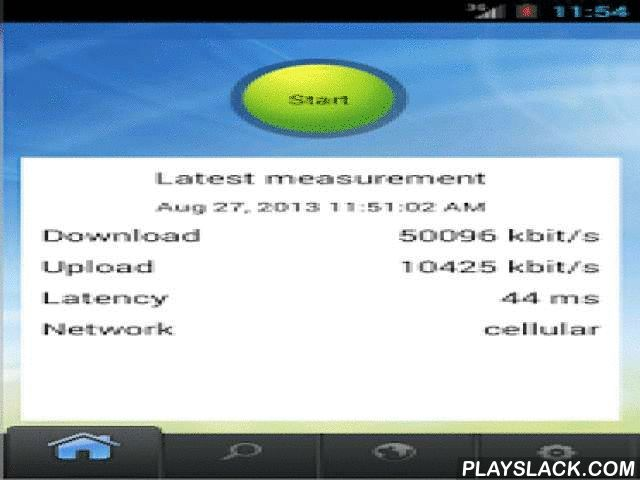Netradar Mobile Speed Test  Android App - playslack.com ,  Netradar is an application for measuring your Internet connection. The application is designed by researchers at the Aalto University, Department of Communications and Networking. Our vision is to create an objective measurement platform for Internet connections and also mobile devices.The results given by this application are approximations. The application is using your network connection and thus might introduce costs when using…