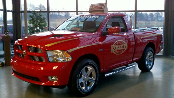 Red Dodge Ram Truck | Lit red express truck and midnight express | Ram trucks, Dodge trucks, Trucks