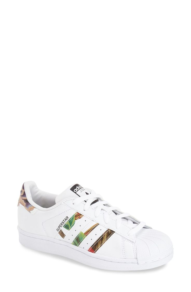 Adidas Superstar 1 White Floral Print W Unisex Sports Office
