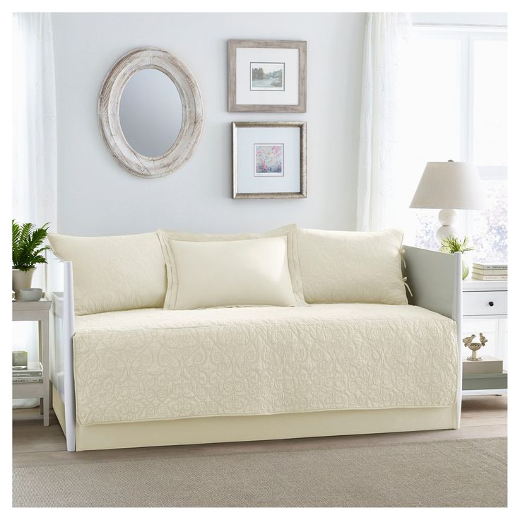 Felicity 5 Piece Daybed Set Daybed - Ivory - Laura Ashley