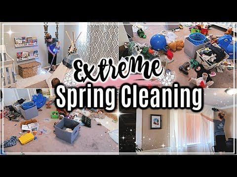 🌸EXTREME SPRING CLEAN WITH ME 2019 | MAJOR CLEANING MOTIVATION | CLEANING MY …