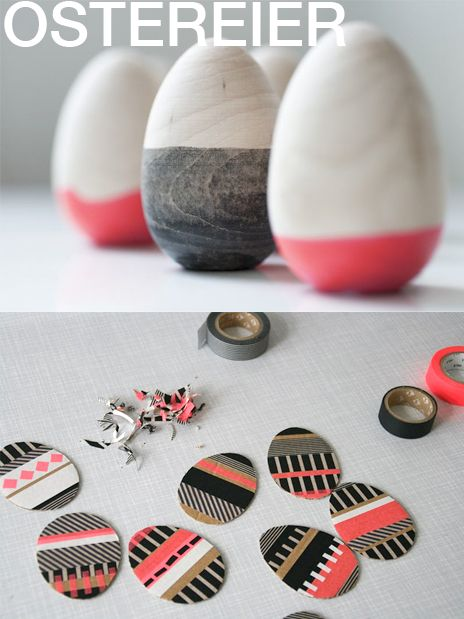 Particularly like the dipped eggs, from 6.5 stitches blog, via Kleinformat (mt eggs from blink blink)