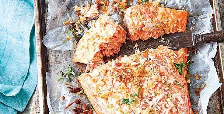 Filete de salmón marinado en miel