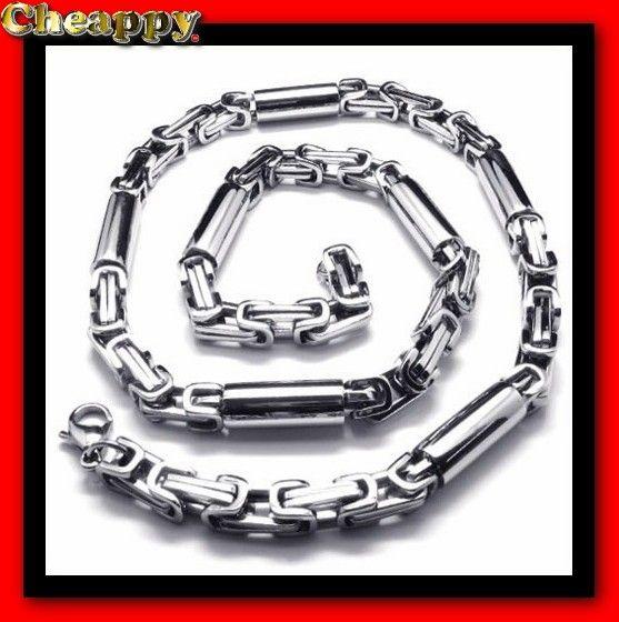 "Mooie Titanium Koningsketting ""Tassos"" Zilverkleurig 7 mm - Cheappy"