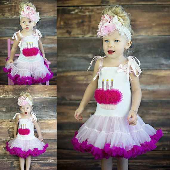 Baby Girl Birthday Dress // Pink Cupcake Dress by AdalynsBoutique http://www.adalynsboutique.com