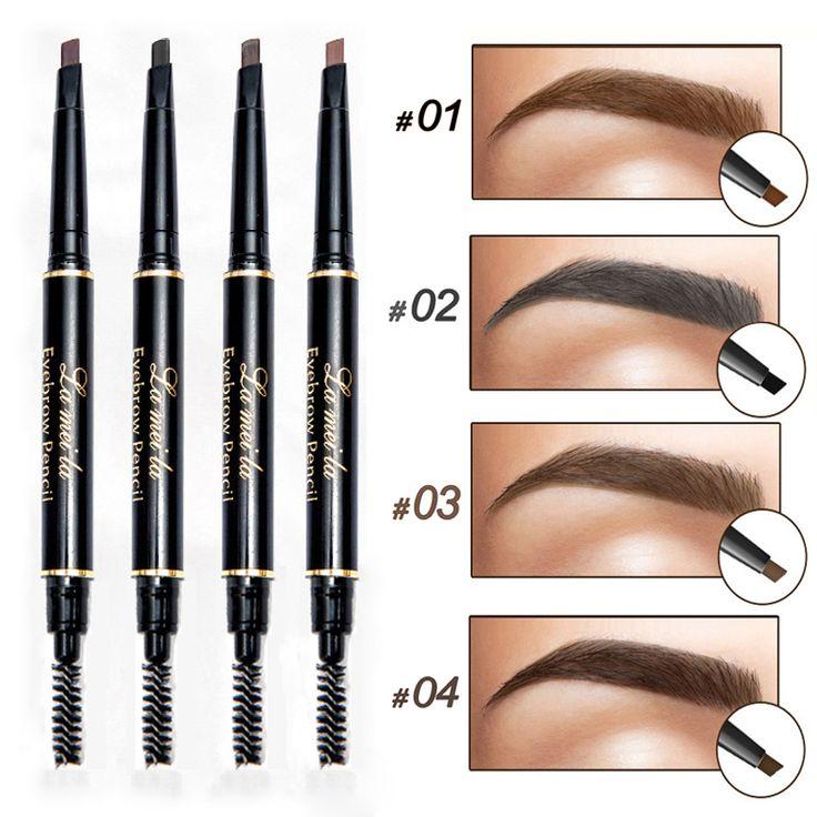 Professional Double-end Eyes Makeup Waterproof Eyebrow Pencils Black Brown Natural Eye Brow Pen Cheap Make Up
