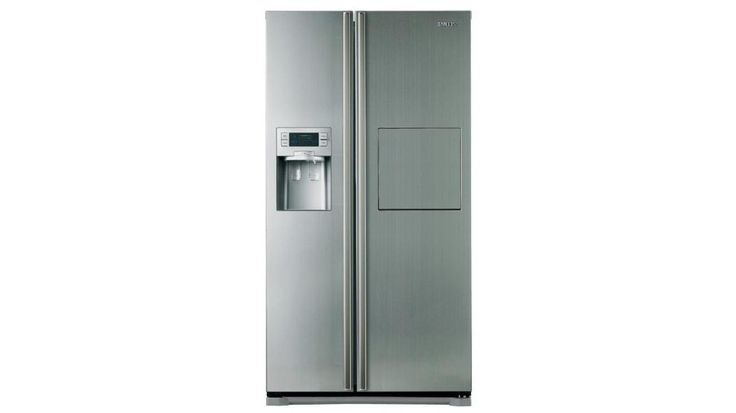 Samsung 580L Capacity Layered Steel Finish Side By Side Fridge