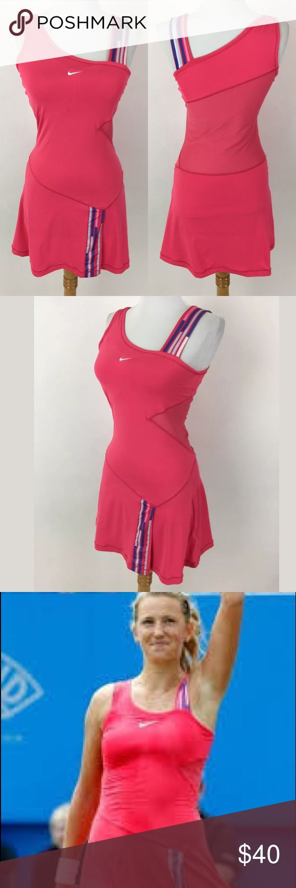 Nike Break Point tennis dress It has a built in bra. Waist: 27 Bust: 30 Length Shoulder to Hem: 31.5 88% polyester, 12% Spandex  Item #2029 Nike Dresses