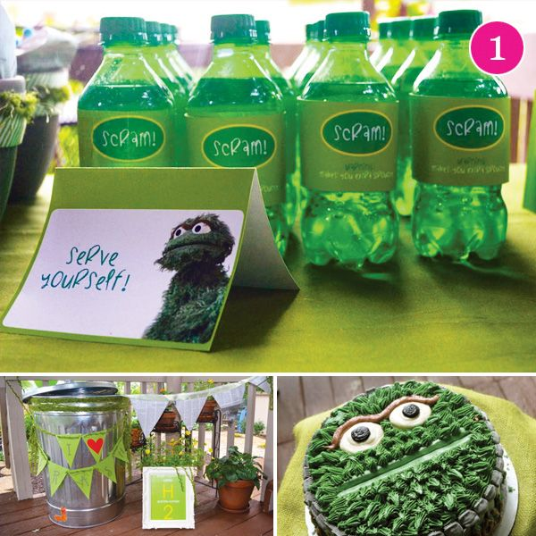 {Party of 5} Grouchy Twos, BBQ Dinner, Circus First Birthday, Space Cadet & Enchanting Baby Shower // Hostess with the Mostess®  Adorable Sesame StreetTheme Party Ideas  #oscarthegrouch #sesamestreet