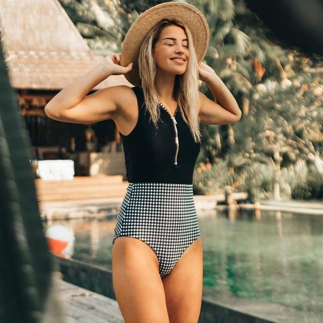 Sexy One Piece Swimsuit Bodysuit Bandage High Waist bikini