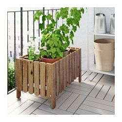 IKEA - ASKHOLMEN, Jardinière, Vous pouvez placer la tablette au fond de la…