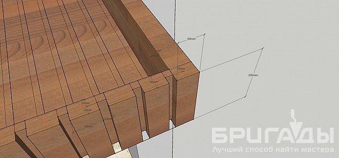 Требуется сделать реечный деревянный потолок на Brigadi.by
