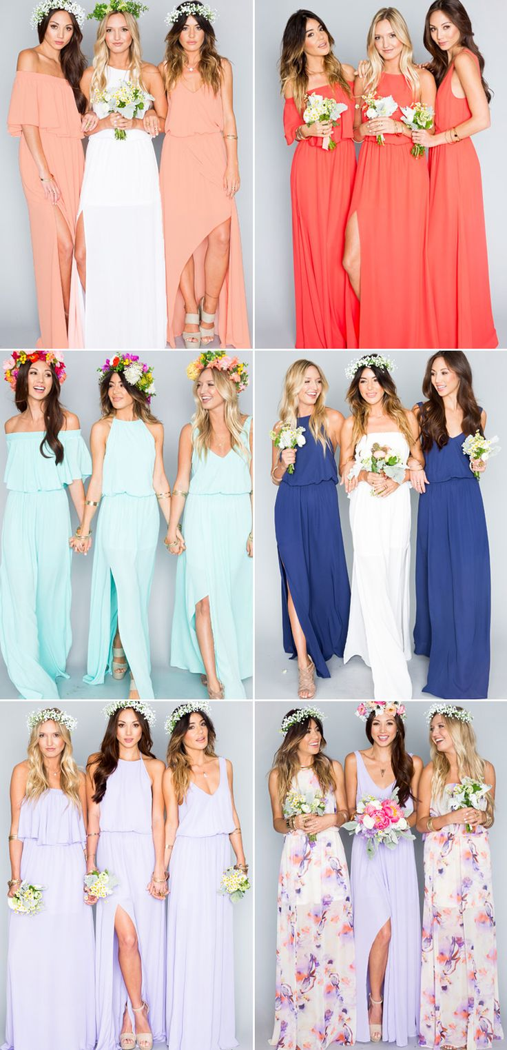 Mix and Match! 25 Beautiful Mismatched Bridesmaid Dresses Your Girls Will Love!