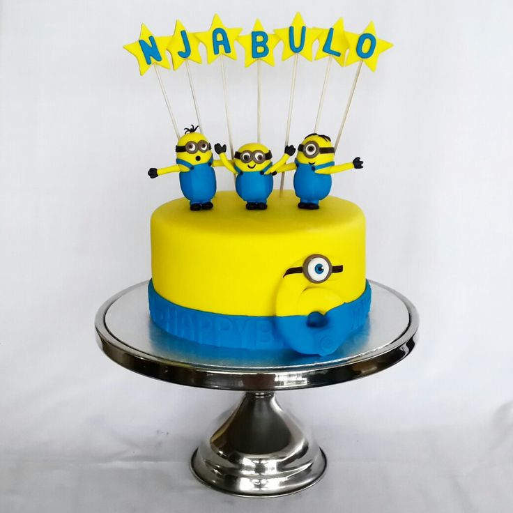 Minions Friends, Bob, Stuart and Kevin Cake for 6 year old boy's birthday. www.wonderlandtreats.co.za