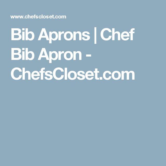 Bib Aprons | Chef Bib Apron - ChefsCloset.com
