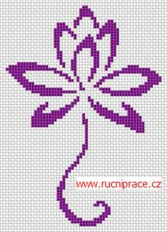 Bloom, free cross stitch patterns and charts - www.free-cross-stitch.rucniprace.cz