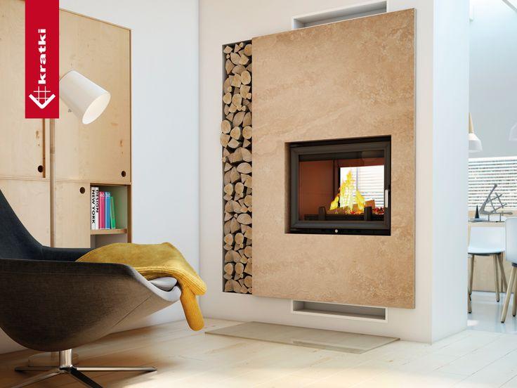 Fireplace ZUZIA 16 kW tunel #kratkipl #kratki #fireplace #insert #interior #livingroom