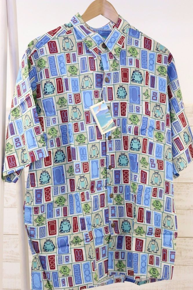 Disney PIXAR MOSTERS INC REYN SPOONER Sully and Mike Limited Aloha Shirts #REYNSPOONER