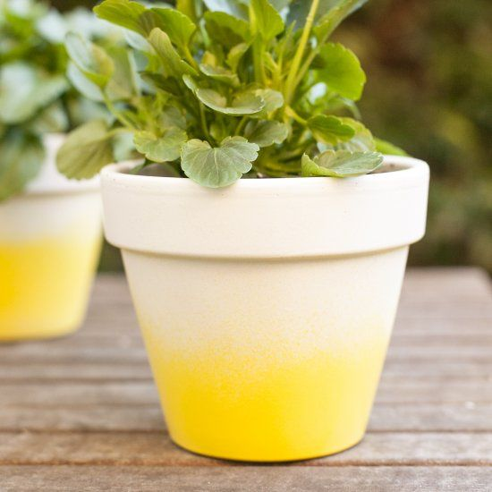 These pretty ombre pots are easier to make than you think!