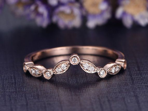 Hey, I found this really awesome Etsy listing at https://www.etsy.com/listing/495801475/v-wedding-band-curved-wedding-band14k