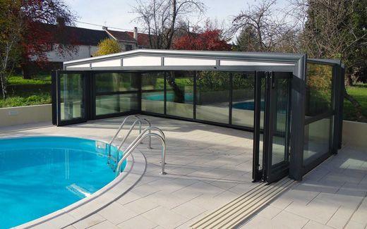 Abri de piscine coulissant pour une sécurité optimale #abri #piscine #haut