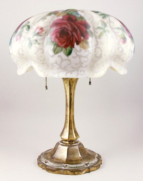 pairpoint+lamps | 5083: Pairpoint Puffy Table Lamp