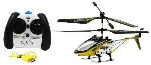 Electric FY807 Alloy Metal Frame Falcon GYRO RTF RC Helicopter Full Function Great Quality Remote Control RC Helicopter by RC. $34.99. Adjustable Trim Control Rechargeable Li-Po Battery Pack Included Metal Frame. LED Lights Coaxial Tail Rotor Easy to Control. Charging Time: 25-30 Min. Flying Time: 8-10 Min. Length: 7.8 Inches. Electric Powered Gyroscope Equipped Maximum Stability 3.5 Channel. Package Includes:      Electric FY807 Alloy Metal Frame Falcon GYRO RTF ...