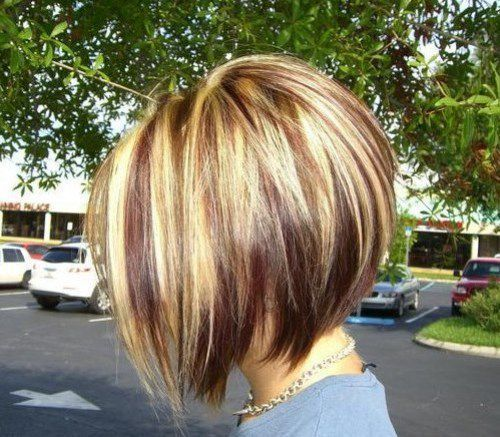 The stacked bob hairstyle is, probably, the most popular cut nowadays, and it's not going to be out of fashion. The stacked bob haircut is designed to offer you a fuller look and a perfect volume at