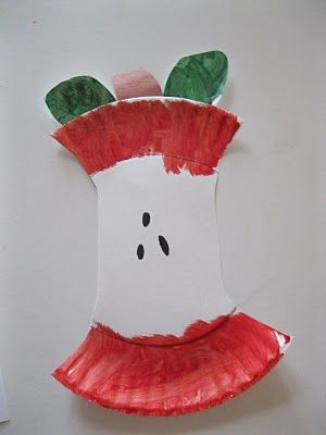 Cute for our apple unit...this would be a great 'whole, part, gone' activity. I have the cards, but this might be better for wee ones. You could also make a bunch of whole apples out of paper plates and paint them the various colors of different apples. Love.