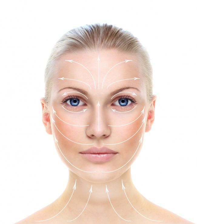 It's important to gently massage the cream into your skin following the massage lines. This will make the skin less stretched. Massage lines run from the center to the edges of the face.