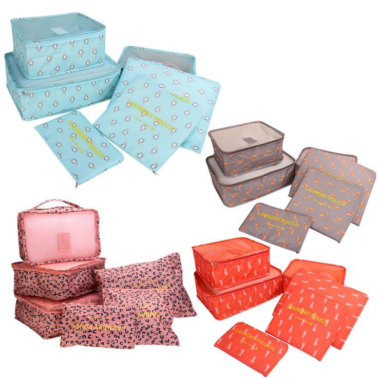 24.04$  Buy here - http://vinzw.justgood.pw/vig/item.php?t=k4vqsru4648 - 6Pcs Travel Storage Bag Set Waterproof Clothes Storage Bags Packing Organizer Fo 24.04$