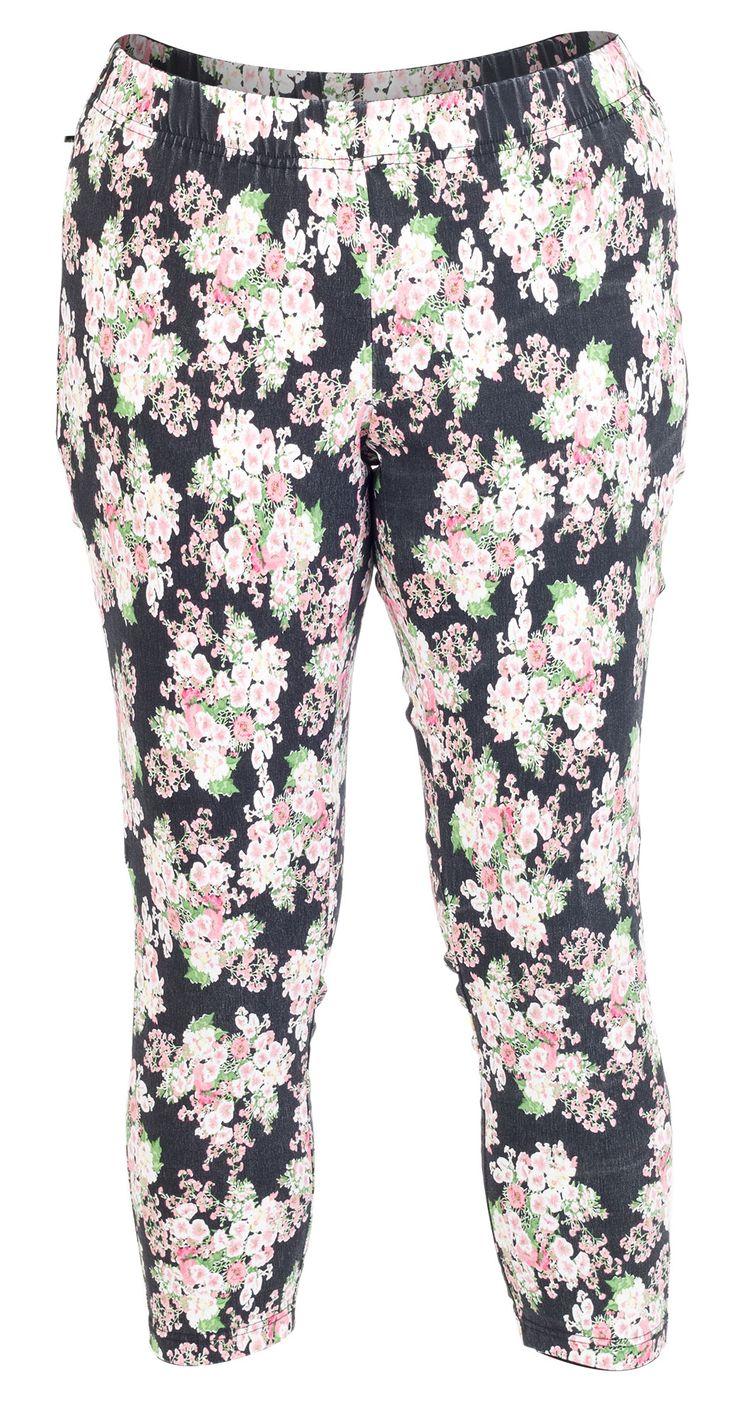 Seje Sorte leggings med smukt blomster print Gozzip Modetøj til Damer i behageligt materiale