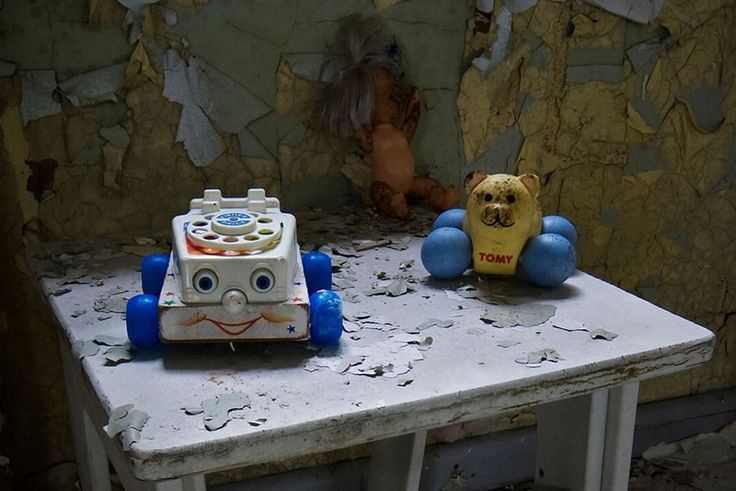 Abandoned Toys, West Park Hospital, Childrens Ward by howzey