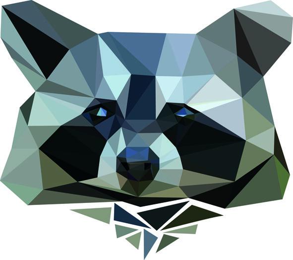 Muursticker diamond wasbeer is een schattige, originele muursticker voor in de kinderkamer. Bekijk ook onze andere muurstickers.