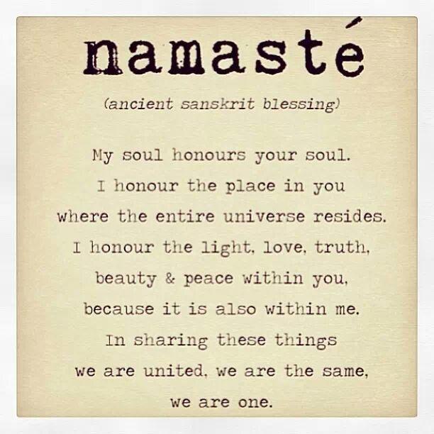 Namaste http://en.m.wikipedia.org/wiki/Namaste