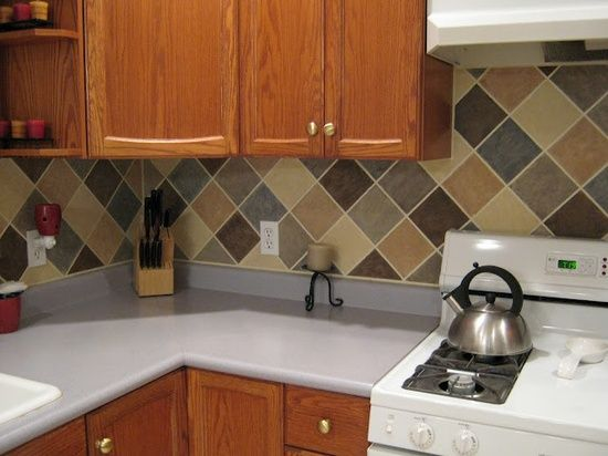 Cheap And Easy Backsplash Kitchen Backsplash Pinterest