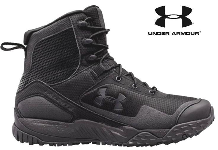 Under Armour Valsetz RTS Side-Zip Tactical Boot - Black UA Law Enforcement Boots
