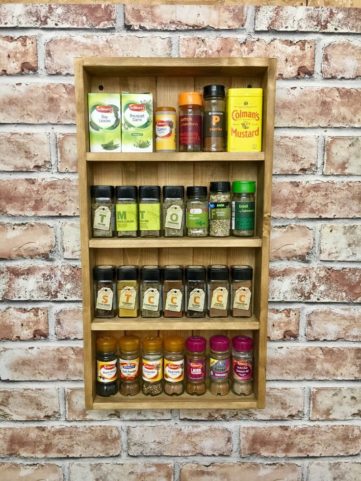 Best 25 Pallet Spice Rack Ideas On Pinterest Kitchen