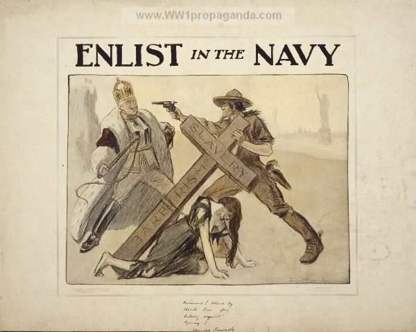 Examples of Propaganda from WW1 | WW1 Navy Posters Page 5