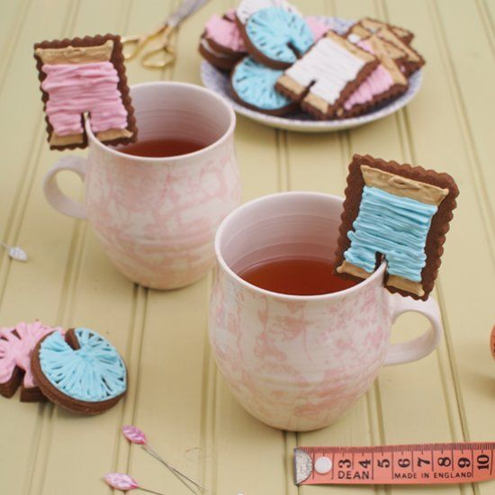 It's your turn to wow the foodies with these crafty biscuits perched atop the rim of their mug. Whip up a batch in no time!