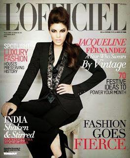 Jacqueline Fernandez on The Cover of L'Officiel - October 2013.
