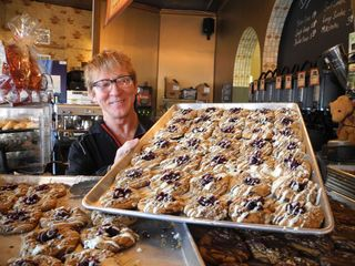 Roger and his Dreamer's Cafe making the news once again with his Crazy Cookies! No surprise - chocolate and caramel - very noteworthy!