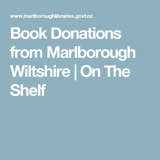 Book Donations from Marlborough Wiltshire | On The Shelf