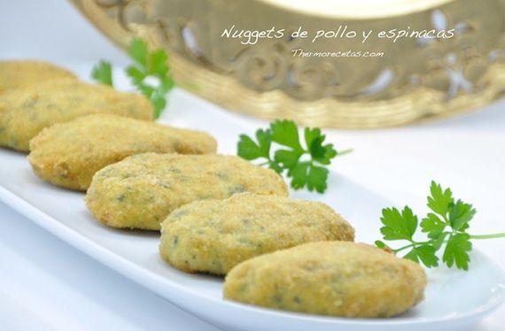 Spinacini - Nuggets de pollo y espinacas - http://www.thermorecetas.com/2013/09/26/spinacini-nuggets-de-pollo-y-espinacas/