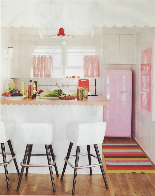 pretty in pink   home tour in house beautiful
