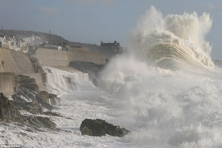 Biggest storm of the year sweeps Britain off its feet with flooding, gales and lightning strikes ...Cornwall