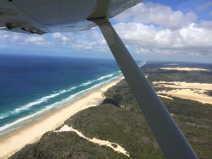 Scenic flight over Fraser Island , QLD Australia