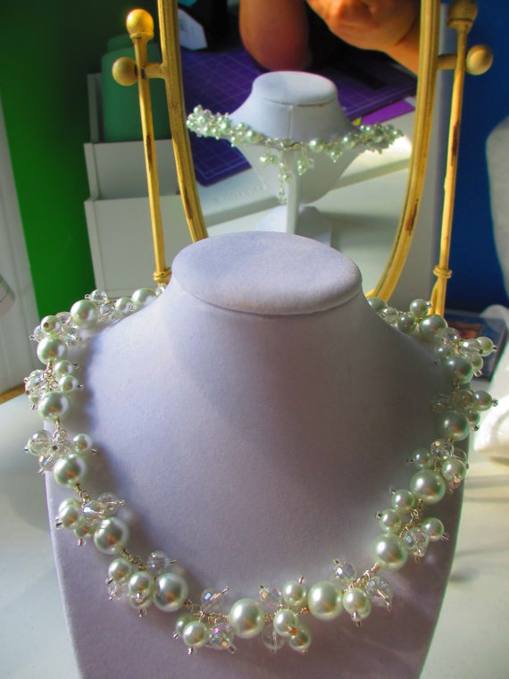 Elegant Pearl Necklace Mothers day by WolfCreekCreations on Etsy, $43.00