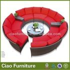 2016 muebles de Jardín al aire libre sofá sofá de mimbre redonda