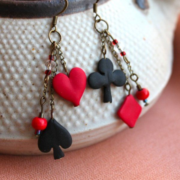 Arlequin - Polymer clay earrings